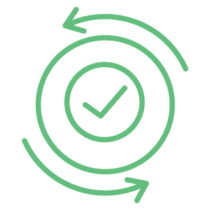 Modthink - Agile Marketing icon with arrows and check mark