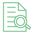 Modthink - Search Optimization icon with page and magnifying glass