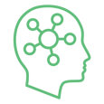 Modthink - Thought Leadership icon with diagram in brain