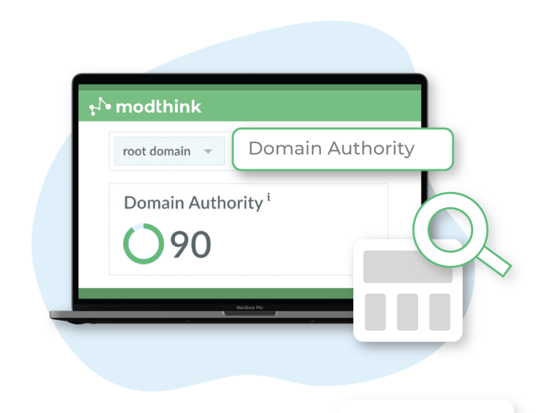 Modthink - Image of a laptop showing domain authority