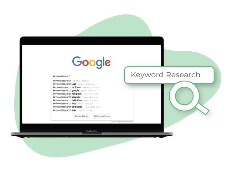 Modthink - Keyword research on Google search